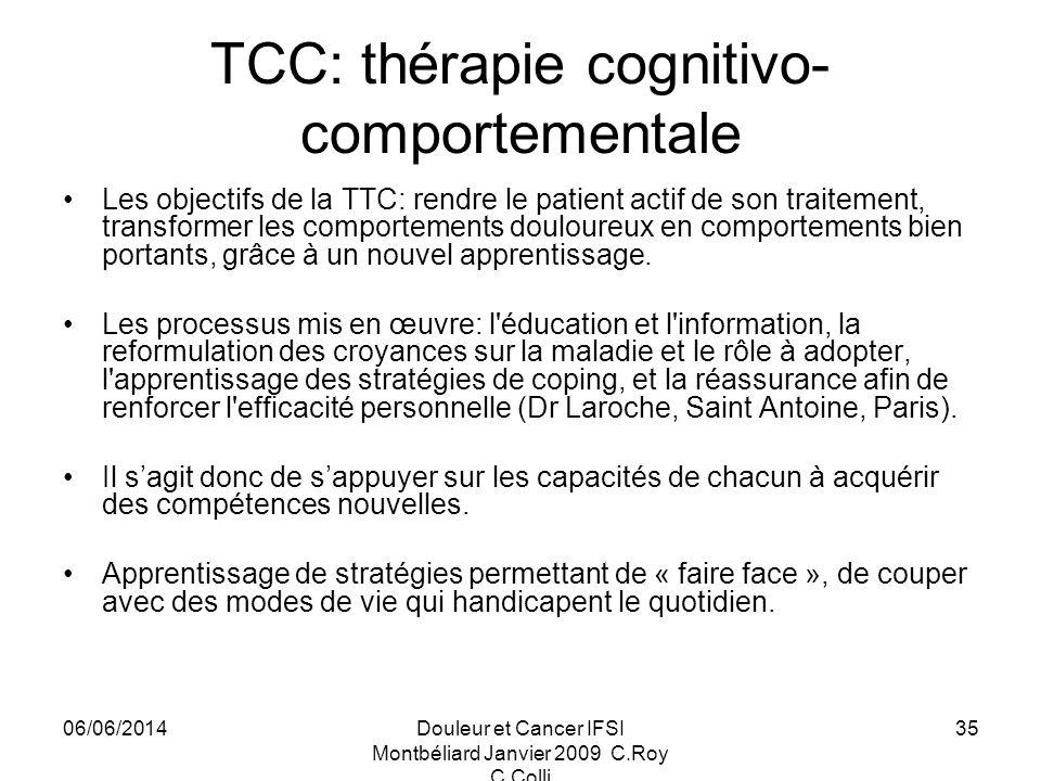 TCC: thérapie cognitivo-comportementale