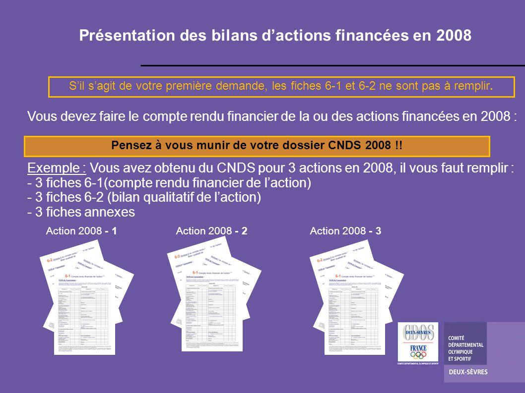 Présentation des bilans d'actions financées en 2008