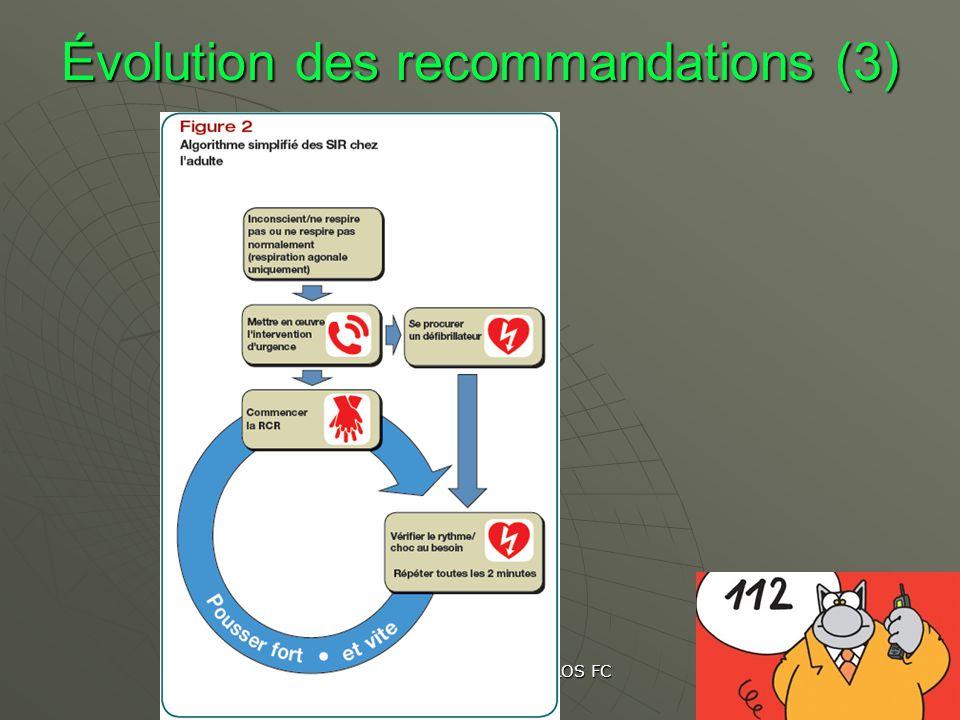 Évolution des recommandations (3)