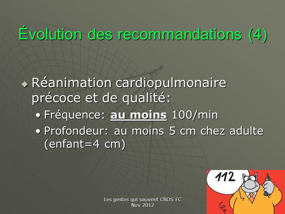 Évolution des recommandations (4)