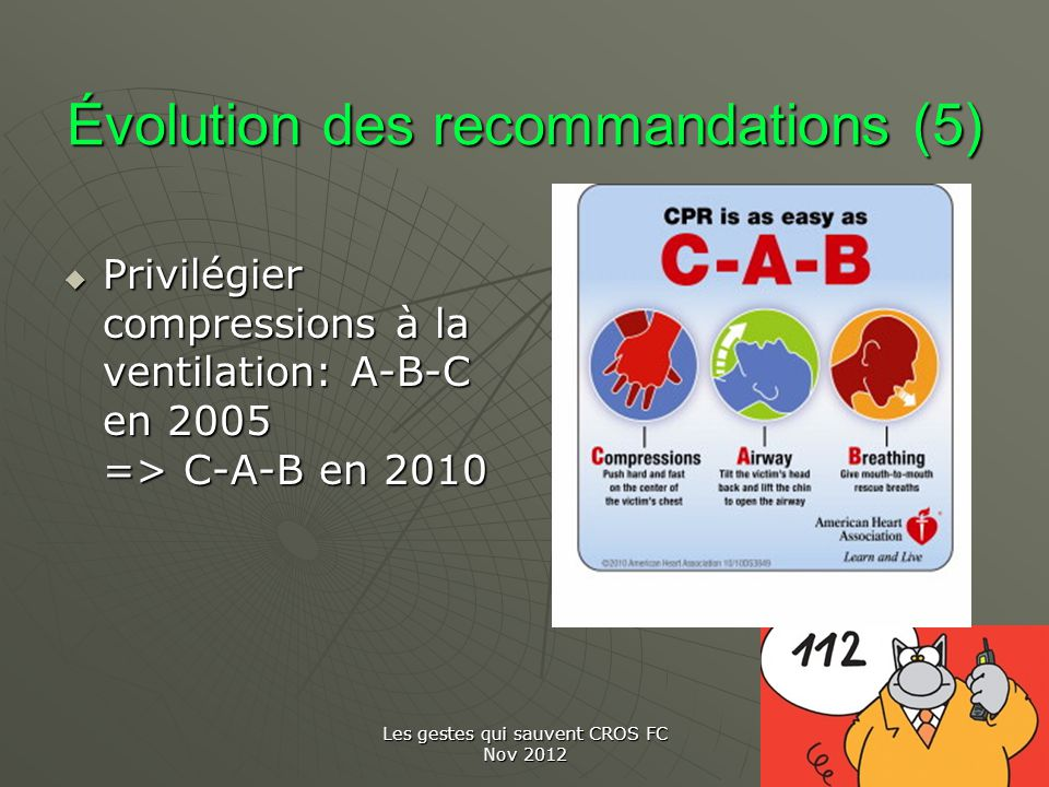 Évolution des recommandations (5)