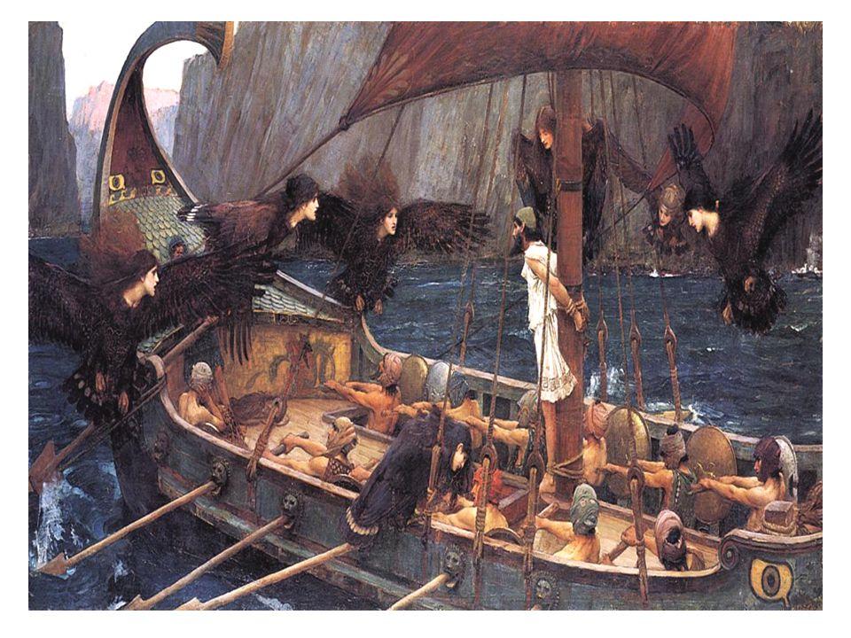Ulises y las sirenas , 1891. óleo sobre lienzo. 100 x 201 cm