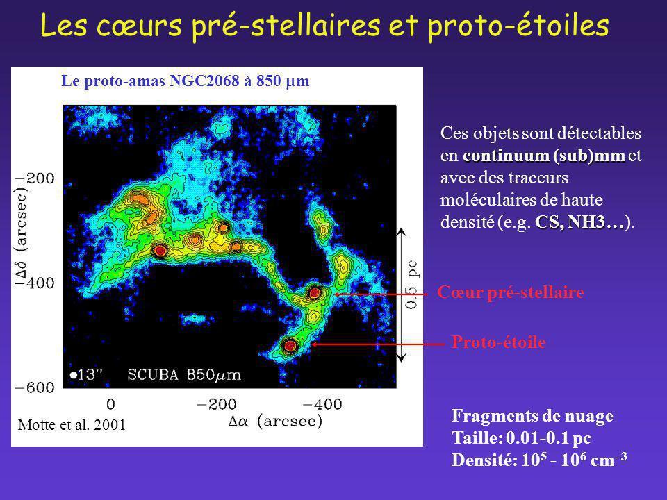 Les cœurs pré-stellaires et proto-étoiles