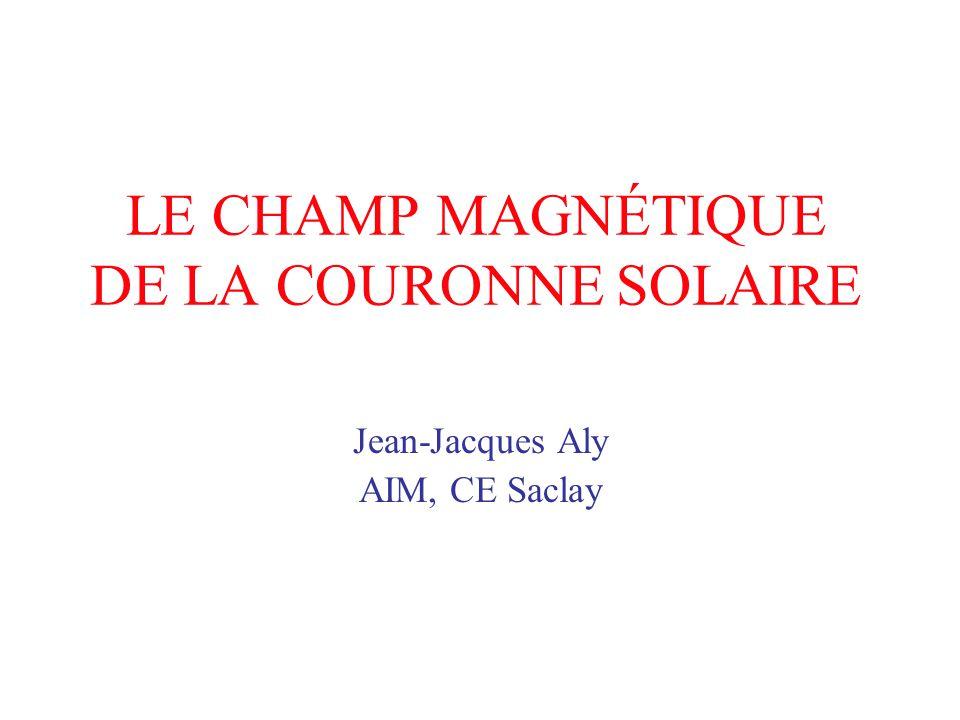 LE CHAMP MAGNÉTIQUE DE LA COURONNE SOLAIRE