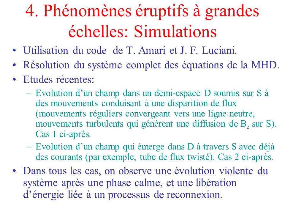 4. Phénomènes éruptifs à grandes échelles: Simulations