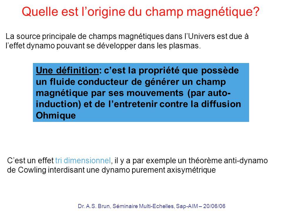 Dr. A.S. Brun, Séminaire Multi-Echelles, Sap-AIM – 20/06/06