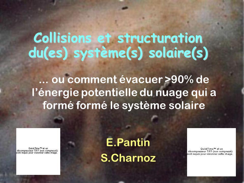 Collisions et structuration du(es) système(s) solaire(s)