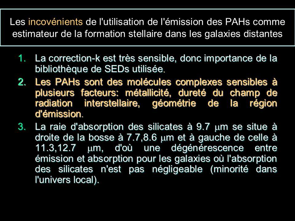 Les incovénients de l utilisation de l émission des PAHs comme estimateur de la formation stellaire dans les galaxies distantes