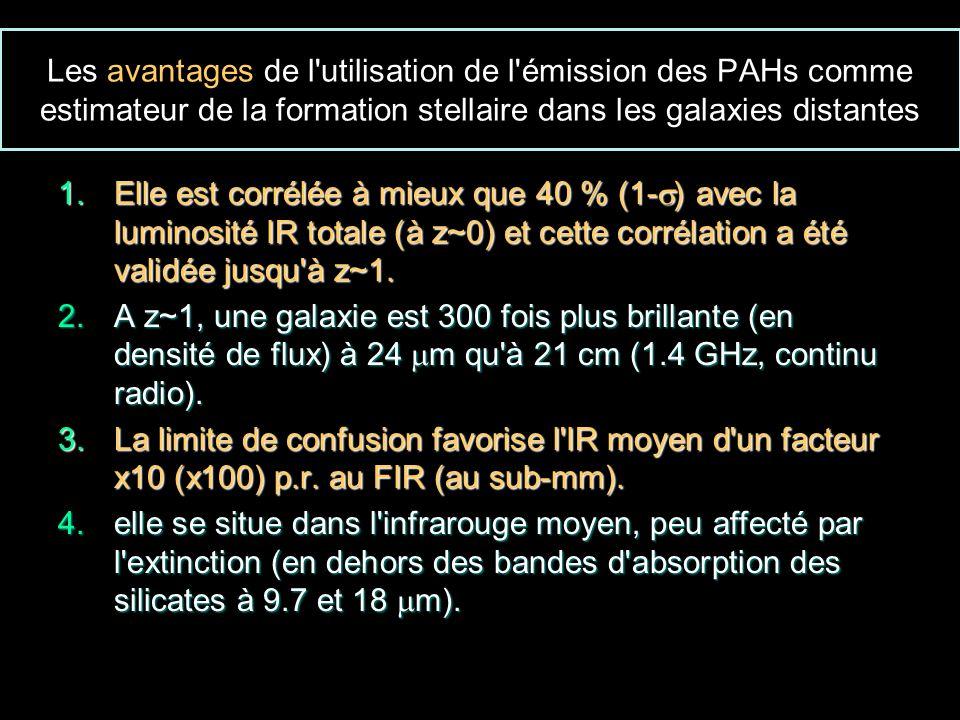 Les avantages de l utilisation de l émission des PAHs comme estimateur de la formation stellaire dans les galaxies distantes