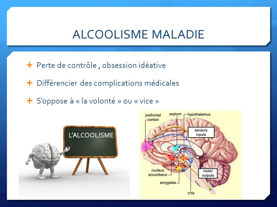 ALCOOLISME MALADIE Perte de contrôle , obsession idéative