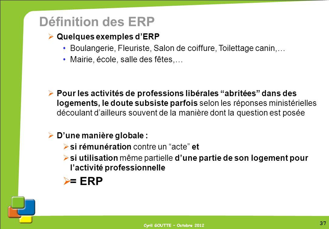 Définition des ERP = ERP Quelques exemples d'ERP