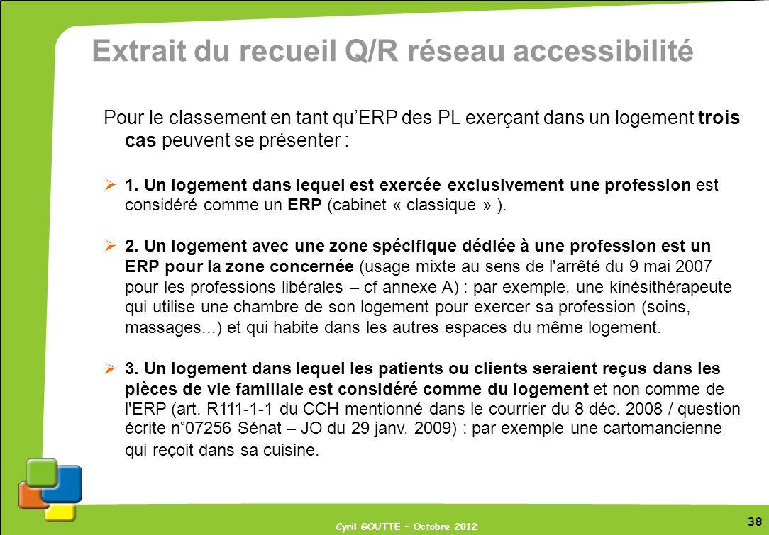 Extrait du recueil Q/R réseau accessibilité