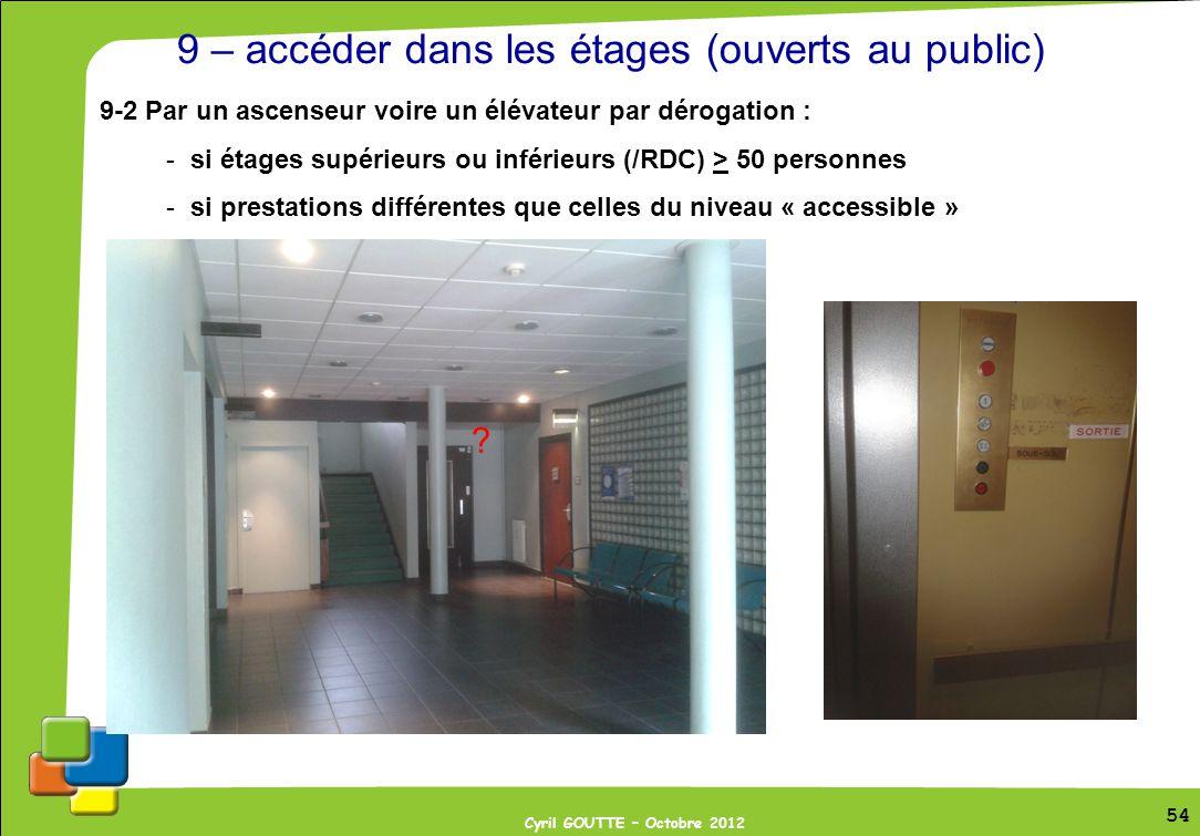 9 – accéder dans les étages (ouverts au public)