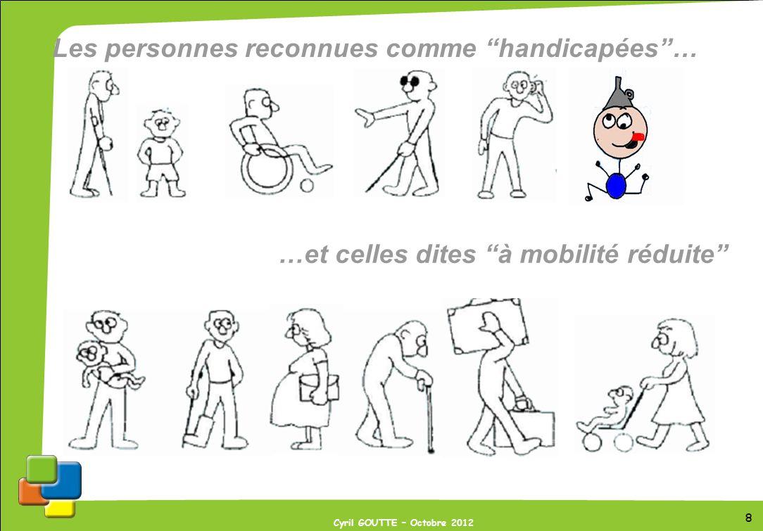 Les personnes reconnues comme handicapées …