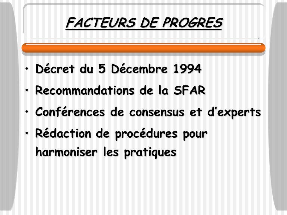 FACTEURS DE PROGRES Décret du 5 Décembre 1994