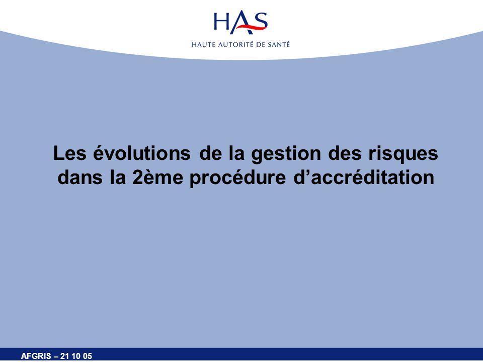 Les évolutions de la gestion des risques dans la 2ème procédure d'accréditation