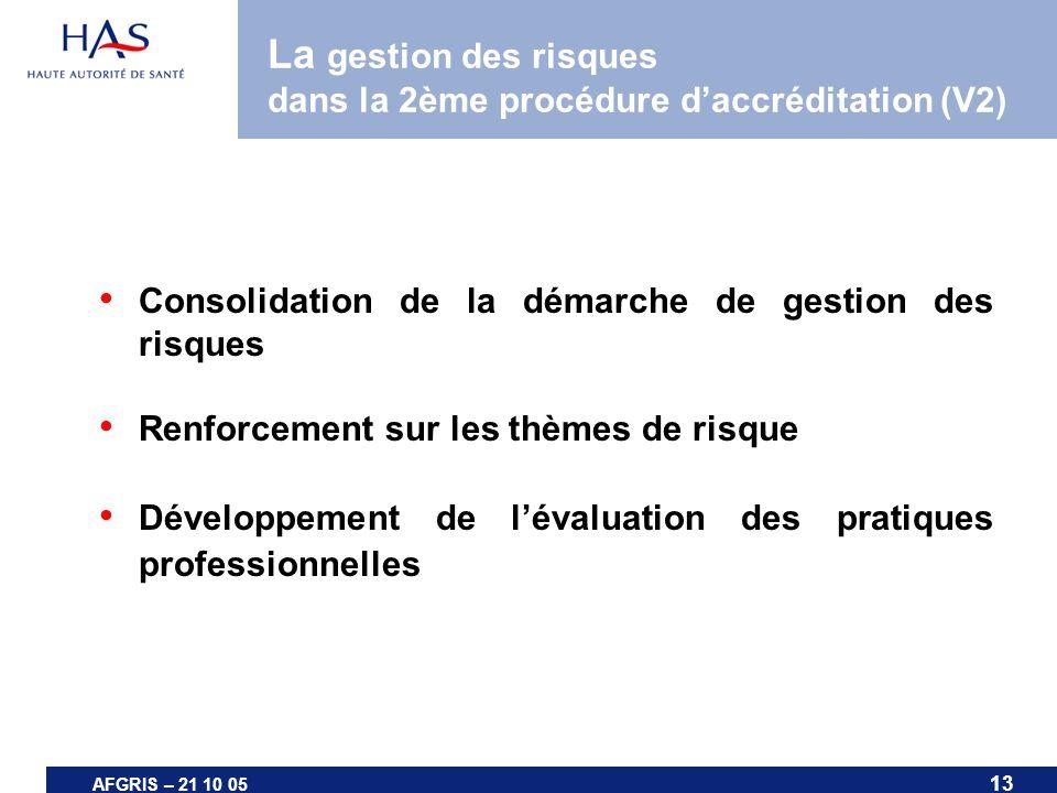 La gestion des risques dans la 2ème procédure d'accréditation (V2)