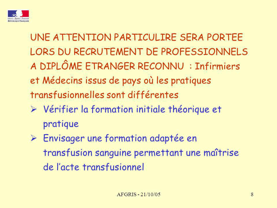 UNE ATTENTION PARTICULIRE SERA PORTEE