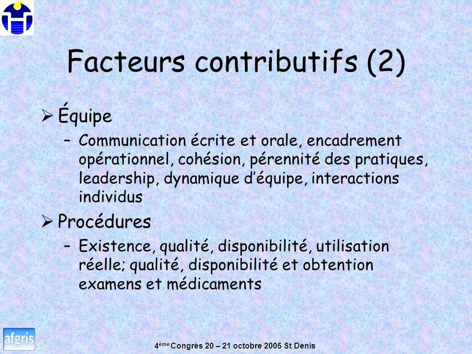 Facteurs contributifs (2)
