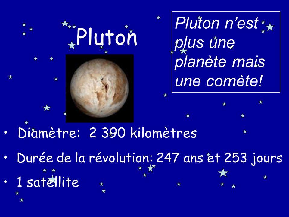 Pluton Pluton n'est plus une planète mais une comète!