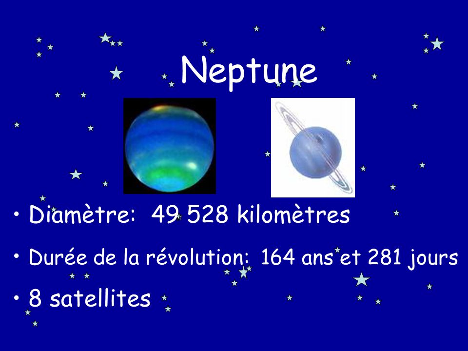 Neptune Diamètre: 49 528 kilomètres