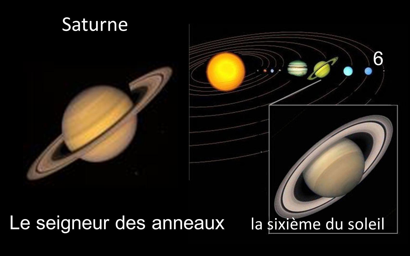 6 la sixième du soleil _Saturne _Le seigneur des anneaux