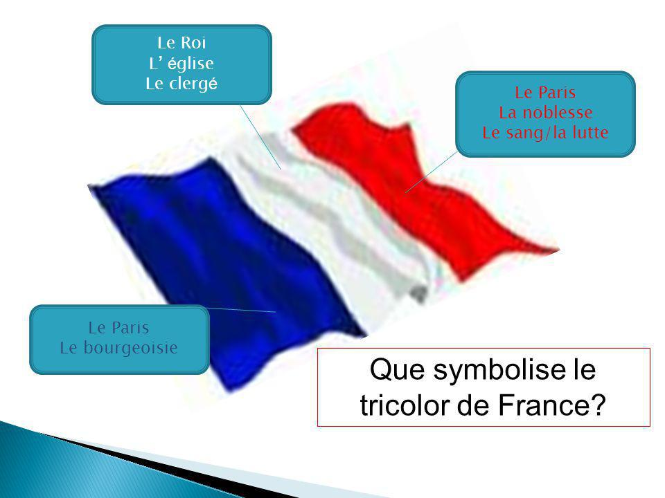 Que symbolise le tricolor de France