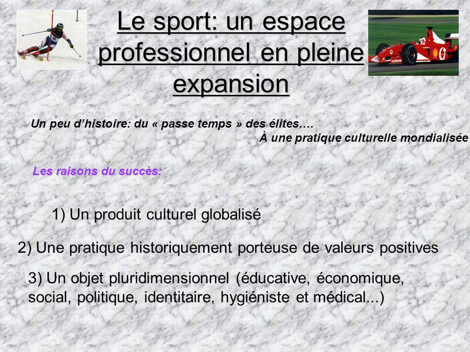 Le sport: un espace professionnel en pleine expansion