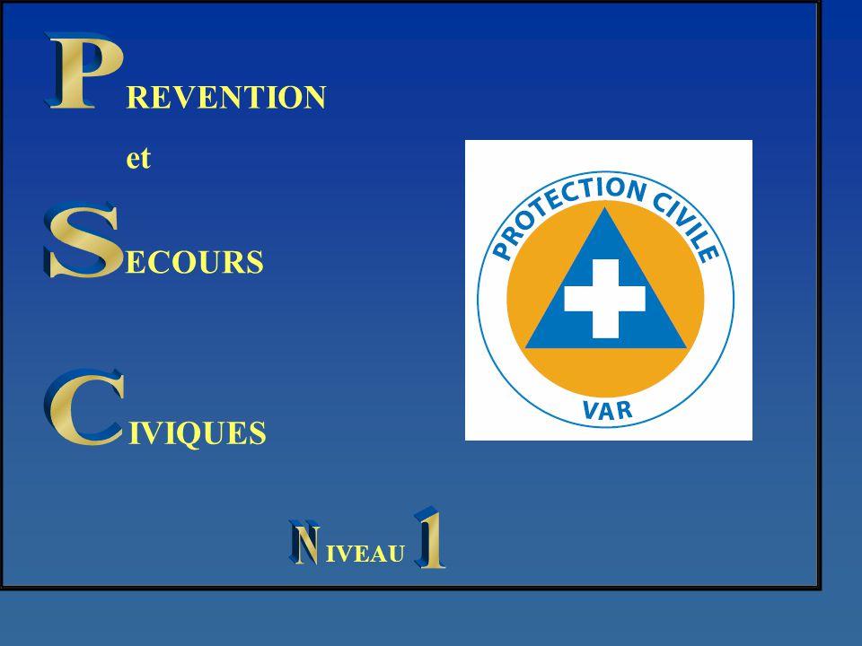P REVENTION et S ECOURS C IVIQUES 1 N IVEAU