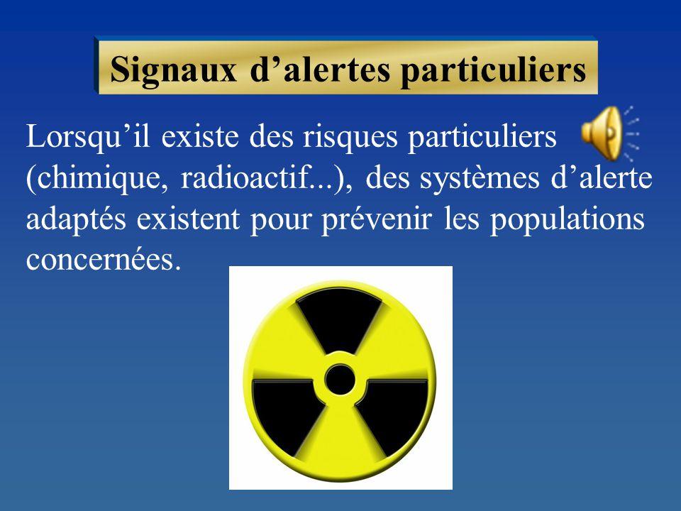 Signaux d'alertes particuliers