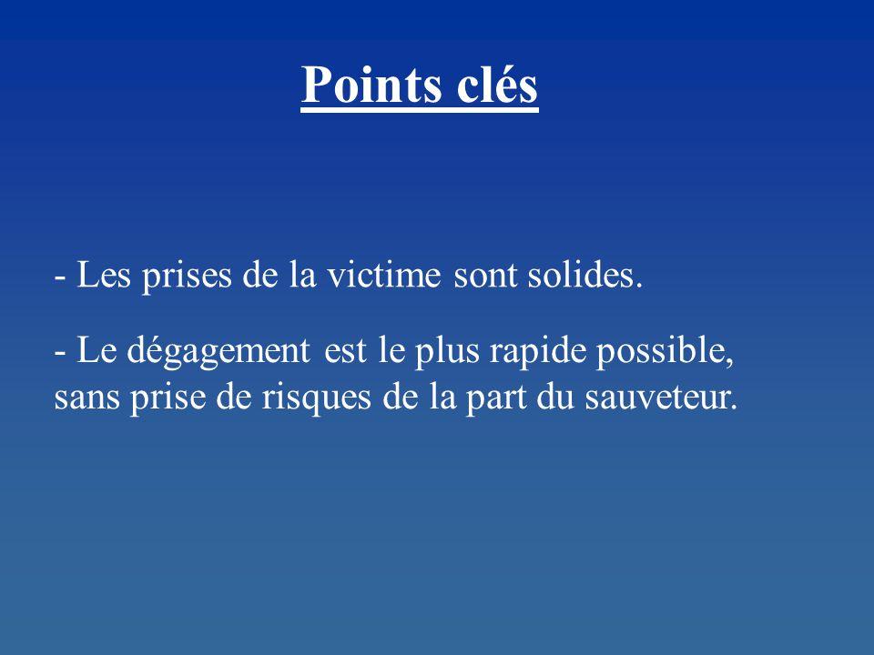 Points clés - Les prises de la victime sont solides.