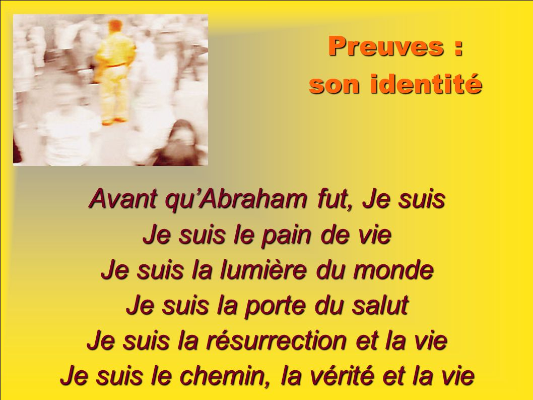 Avant qu'Abraham fut, Je suis Je suis le pain de vie