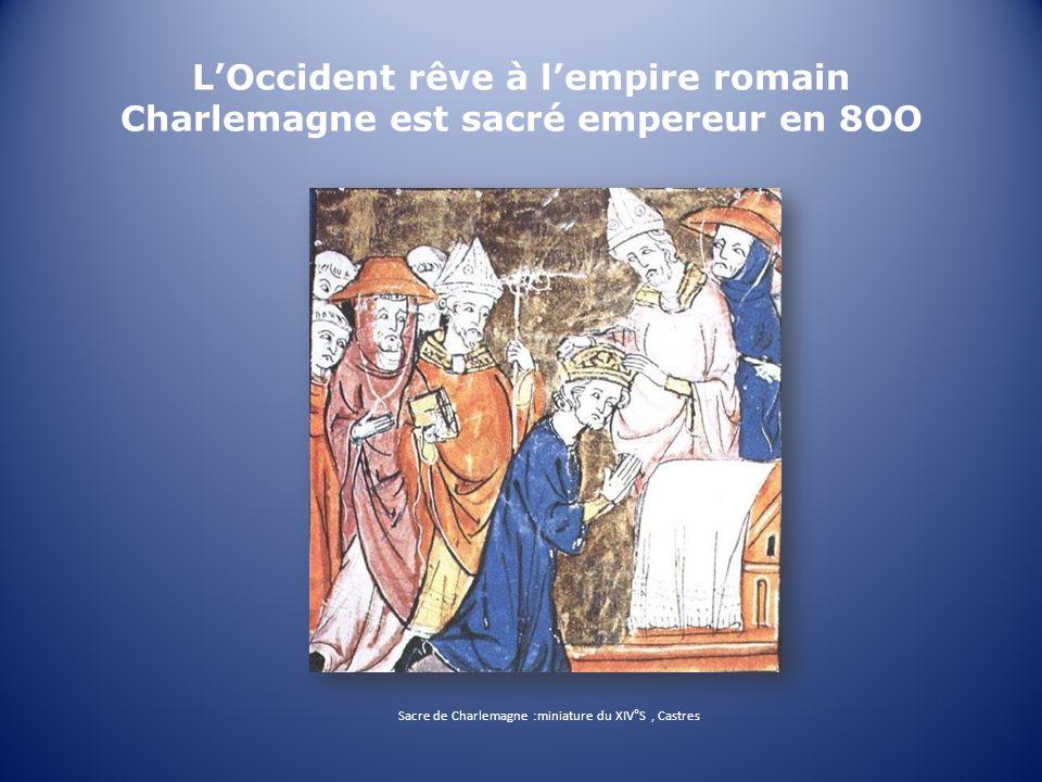 Sacre de Charlemagne :miniature du XIV°S , Castres