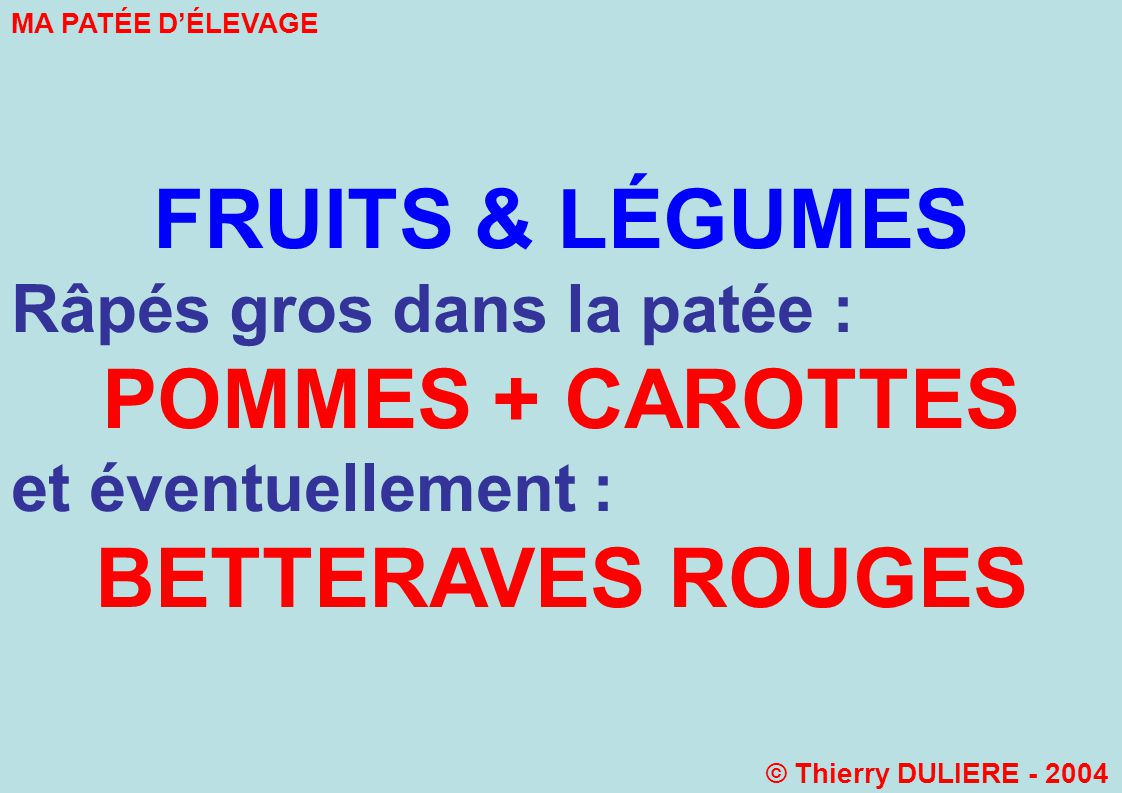 FRUITS & LÉGUMES POMMES + CAROTTES BETTERAVES ROUGES