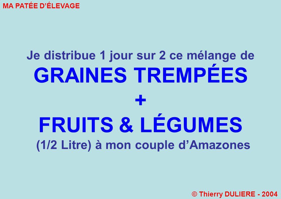 GRAINES TREMPÉES + FRUITS & LÉGUMES