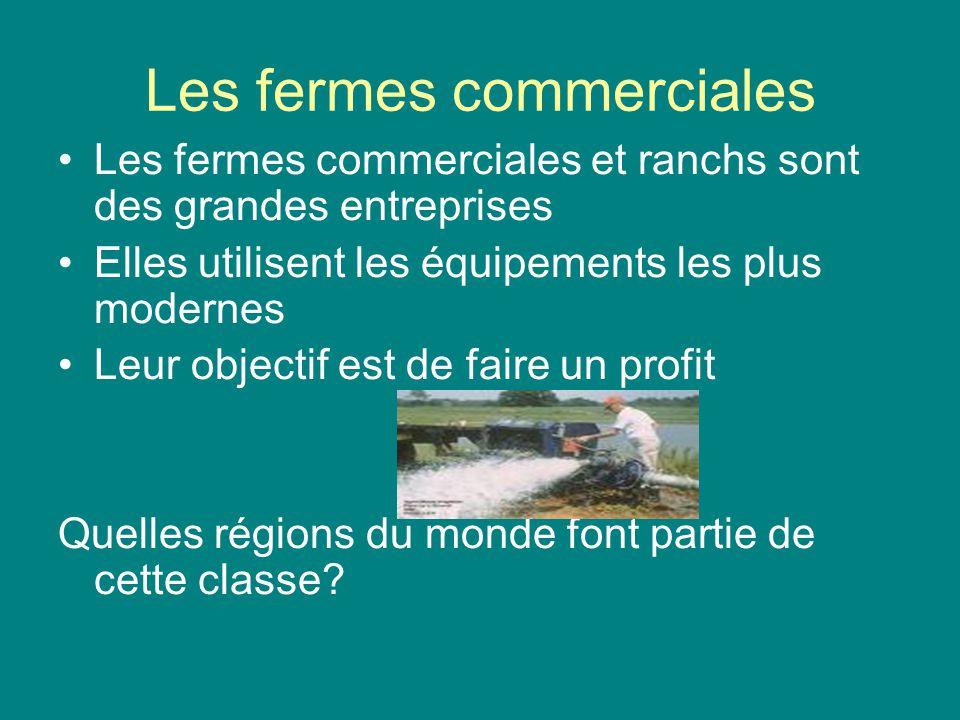 Les fermes commerciales