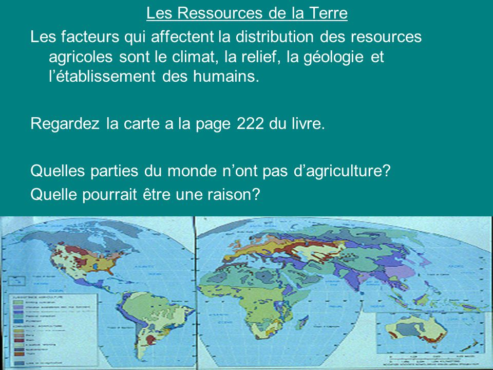 Les Ressources de la Terre