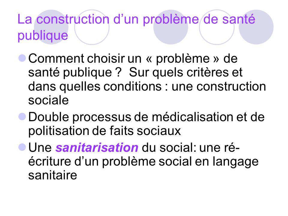 La construction d'un problème de santé publique