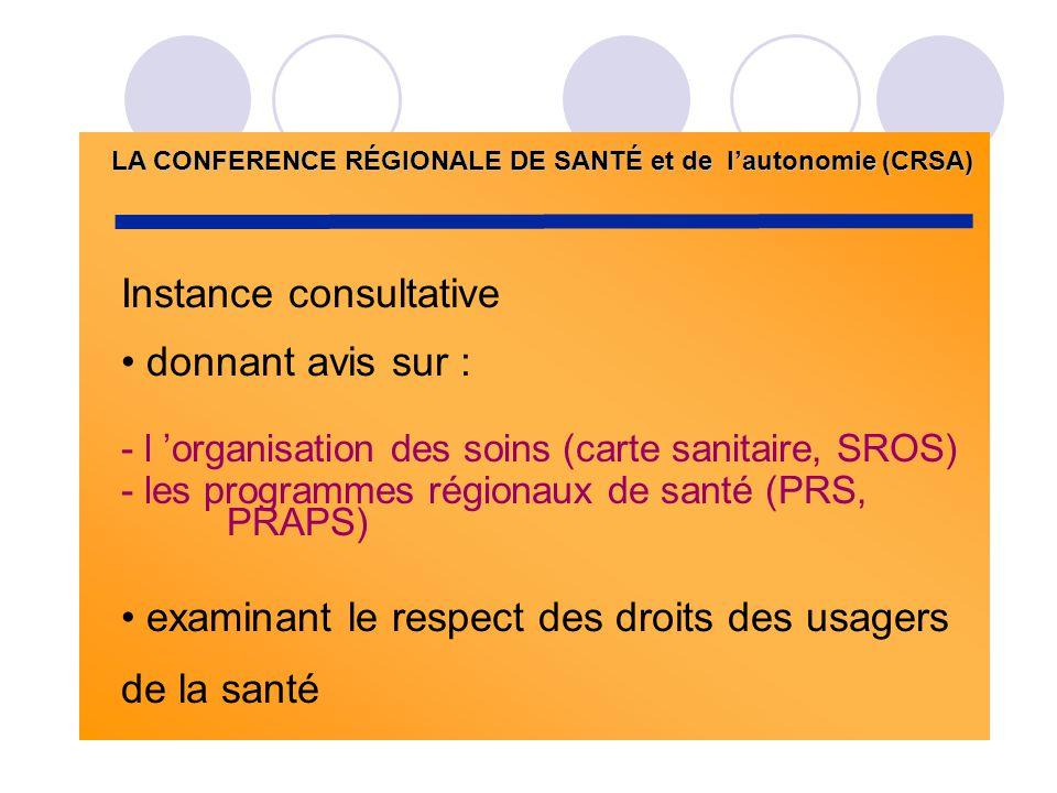 LA CONFERENCE RÉGIONALE DE SANTÉ et de l'autonomie (CRSA)
