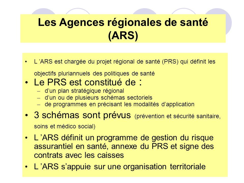 Les Agences régionales de santé (ARS)