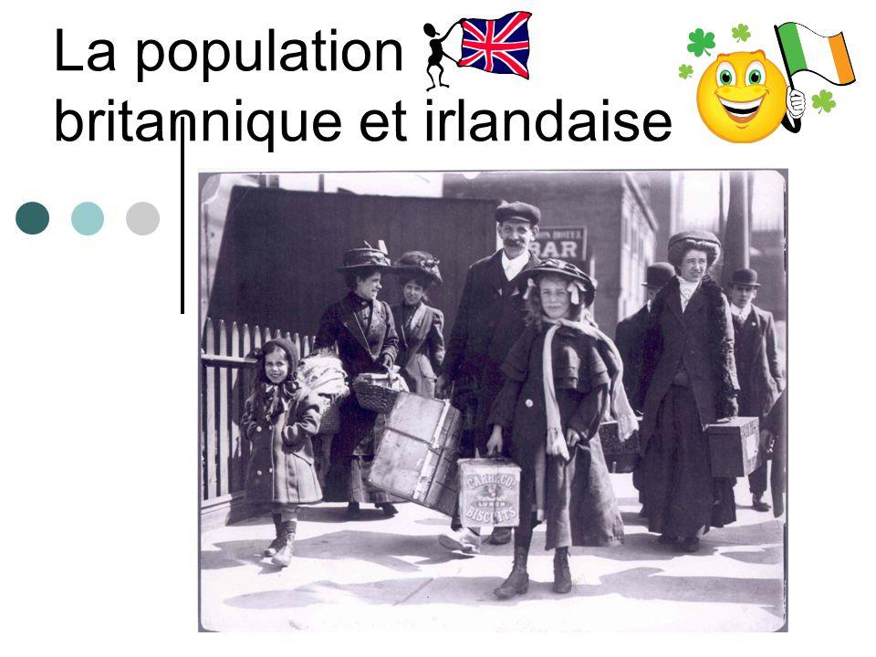 La population britannique et irlandaise