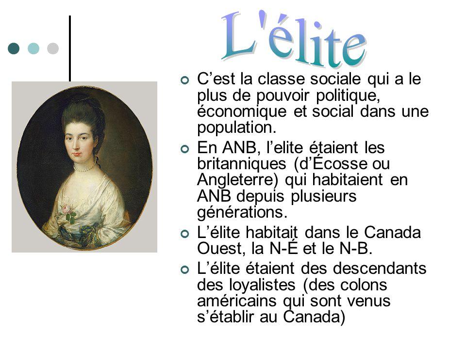L élite C'est la classe sociale qui a le plus de pouvoir politique, économique et social dans une population.