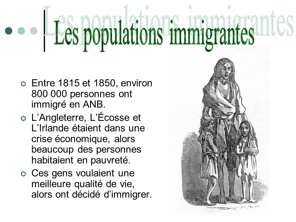 Les populations immigrantes