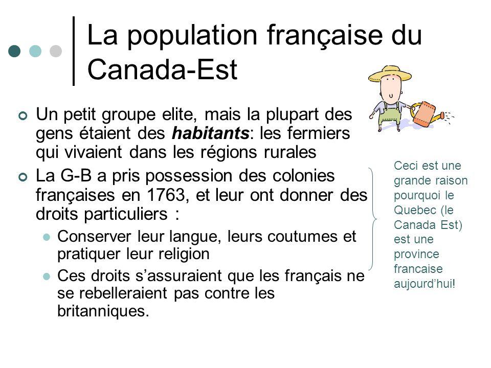 La population française du Canada-Est