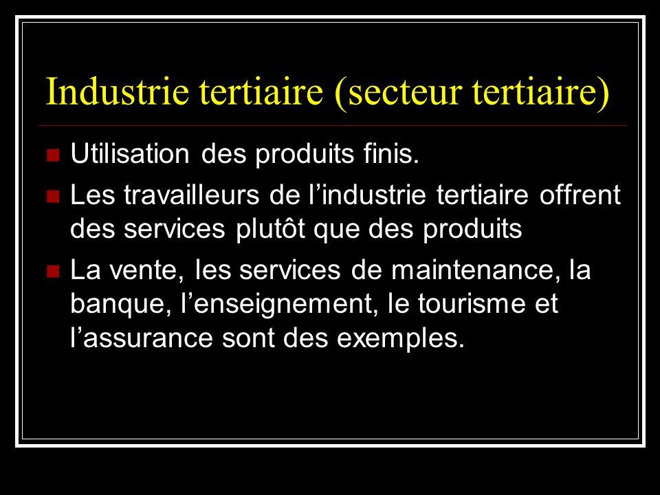 Industrie tertiaire (secteur tertiaire)