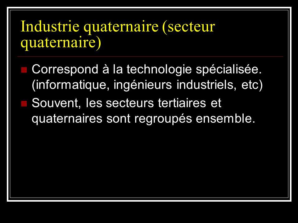 Industrie quaternaire (secteur quaternaire)