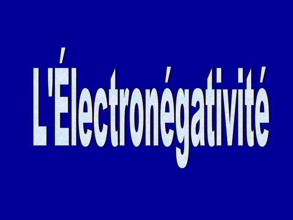 L Électronégativité