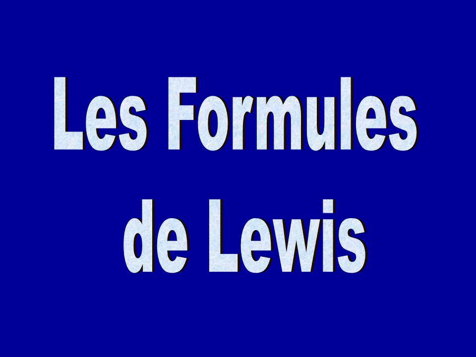 Les Formules de Lewis