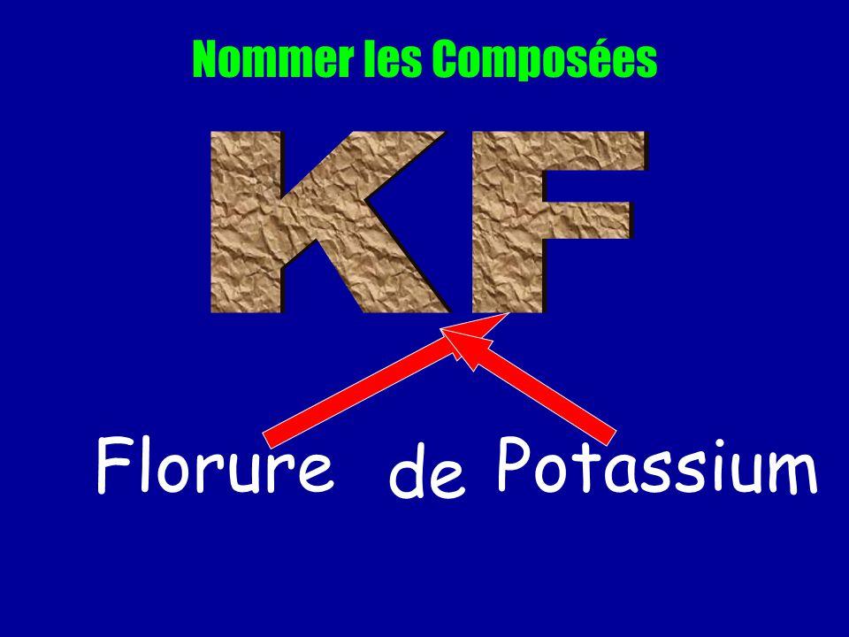 Nommer les Composées KF Florure de Potassium
