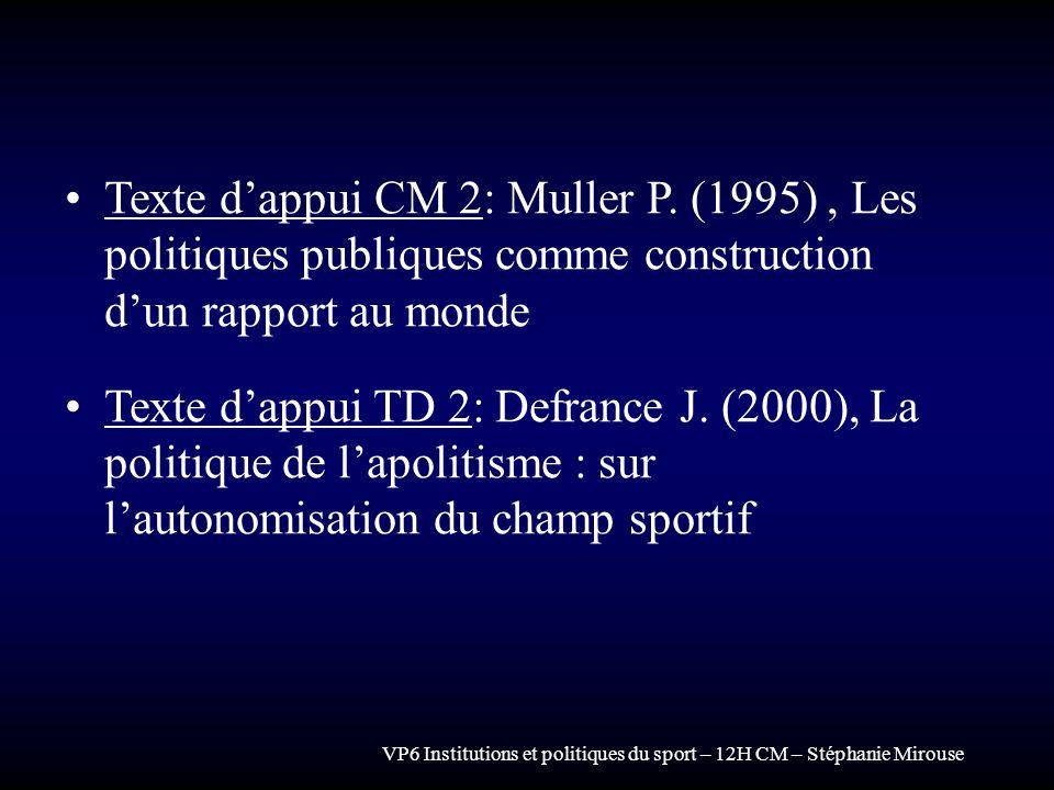 Texte d'appui CM 2: Muller P